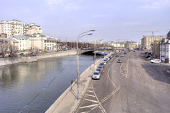 Moscow. Vodootvodny channel Royalty Free Stock Image