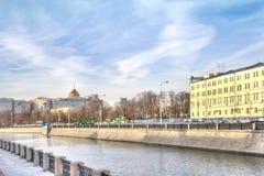 moscow Vodootvodny kanal Arkivbild