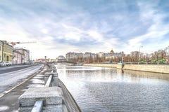 moscow Vodootvodny kanal Royaltyfria Foton