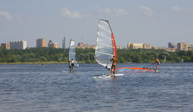 Moscow, windsurfing Royalty Free Stock Photography