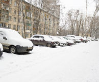 Moscow in winter Royalty Free Stock Photo