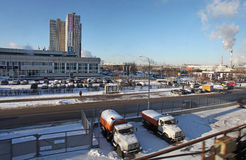 Moscow in winter Royalty Free Stock Images
