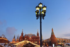 Moscow winter cityscape Royalty Free Stock Image