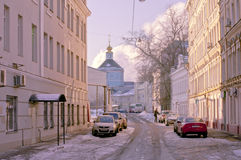 Moscow winter street Royalty Free Stock Image