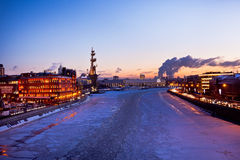 Moscow winter sunset, Russia Stock Image