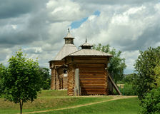 Moscow. Wooden church in the Kolomenskoye Royalty Free Stock Photography