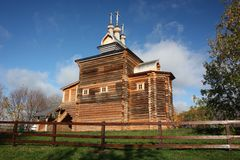 Moscow. The wooden church at Manor Kolomenskoe. Stock Image