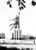 Moscow Worker And Kolkhoz Woman Statue 1962 Stock Images
