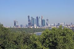 Moscow wtc. The modern skyline of the world trade center of moscow in russia Royalty Free Stock Photos