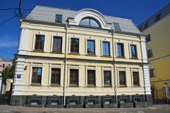 Moscow, Yakovoapostolsky lane. House 5 built in 1900 year.  royalty free stock image