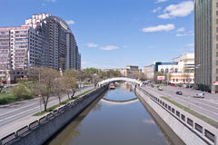 Moscow. Yauza River Royalty Free Stock Photography