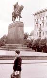 Moscow The Yury Dolgoruky Monument July 1962 Stock Photos