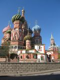 Moscw, Russia, St.Baisl's cathedral Stock Photography