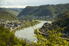 Mosel river. Spring day in Germany, Mosel Stock Images