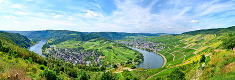 Mosel river Germany. View on the Mosel river and village Wolf in Germany stock photo