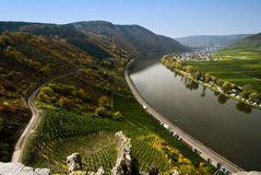 Mosel river germany Royalty Free Stock Photo