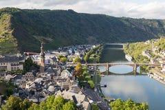 Mosel Rzeczna dolina na letnim dniu Cochem Niemcy Fotografia Stock