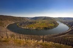 The Mosel valley near Kröv Royalty Free Stock Photos