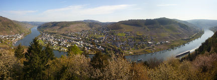 Mosel Valley panorama Royalty Free Stock Photos