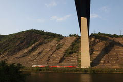 Mosel valley road bridge Royalty Free Stock Images