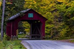 Moseley-überdachte Brücke - Vermont stockfotografie