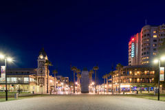 Moseley square in Glenelg at night Stock Image