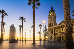 Moseley Square with Pioneer Memorial, Glenelg Royalty Free Stock Images