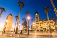 Moseley Square with Pioneer Memorial, Glenelg Royalty Free Stock Photo