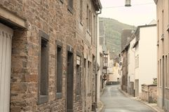 Moselkern, Germany: Traditional german street with brick houses royalty free stock image