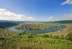 Moselle. Look at Piesport on the Moselle Royalty Free Stock Images