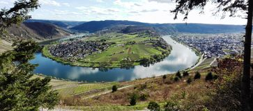 Moselle loop royalty free stock photo