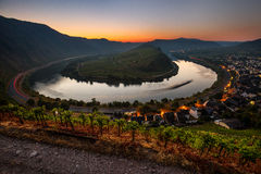 Moselle river bend Royalty Free Stock Photography