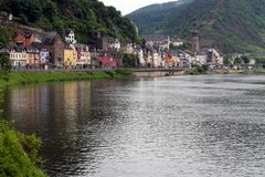 Moselle river and city of Cochem royalty free stock image