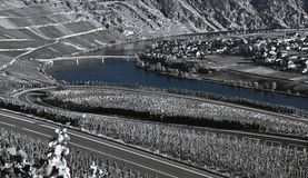 Moselle River landscape Royalty Free Stock Photos