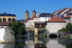 Moselle river in Metz. Royalty Free Stock Photos