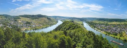 Moselle river valley near Punderich, Germany Stock Photo