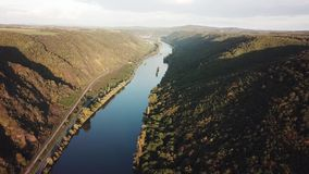 The Moselle river in Germany stock footage