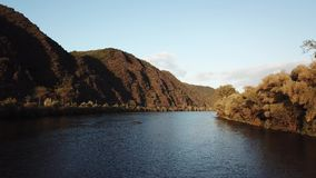 The Moselle river in Germany stock video