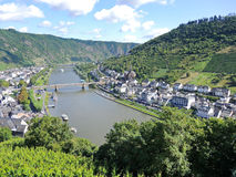 Moselle river, vineyards, Cochem town in Germany Stock Photography