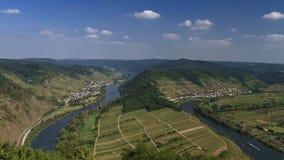 Moselle rzeczny chył blisko Bremm zbiory