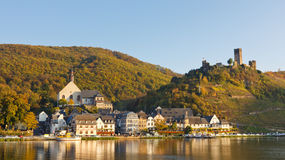 Moselle Scenery in Germany. On a beautiful autumn day Royalty Free Stock Photos