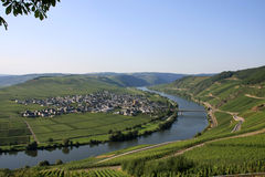 Moselle Valley. The european river moselle in Germany Stock Photography