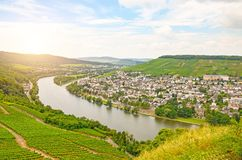 Free Moselle Valley Germany: View From Landshut Castle To The Old Town Bernkastel-Kues With Vineyards And River Mosel In Summer Stock Photos - 106653723
