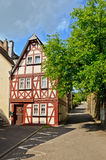 Moselle Valley Germany: View to historic half timbered house in the old town of Traben-Trarbach Stock Images