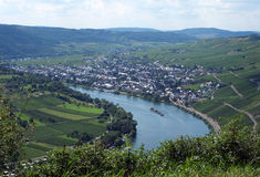 Moselle valley at Kröv Stock Image