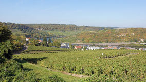 Moselle valley, Machtum, Luxembourg Stock Images