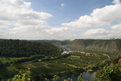 Moselle viewpoint Royalty Free Stock Photography