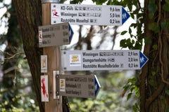 Moselsteig hiking path germany Stock Photos