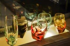 Moser玻璃制造业在卡洛维变化 免版税库存图片