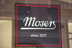 Moser sklepu znak 2 Zdjęcia Stock